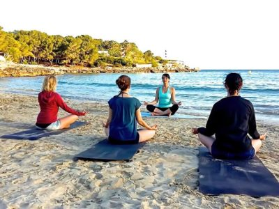 Yoga Lesson at the seaview terrace les Charmettes  every friday july and august